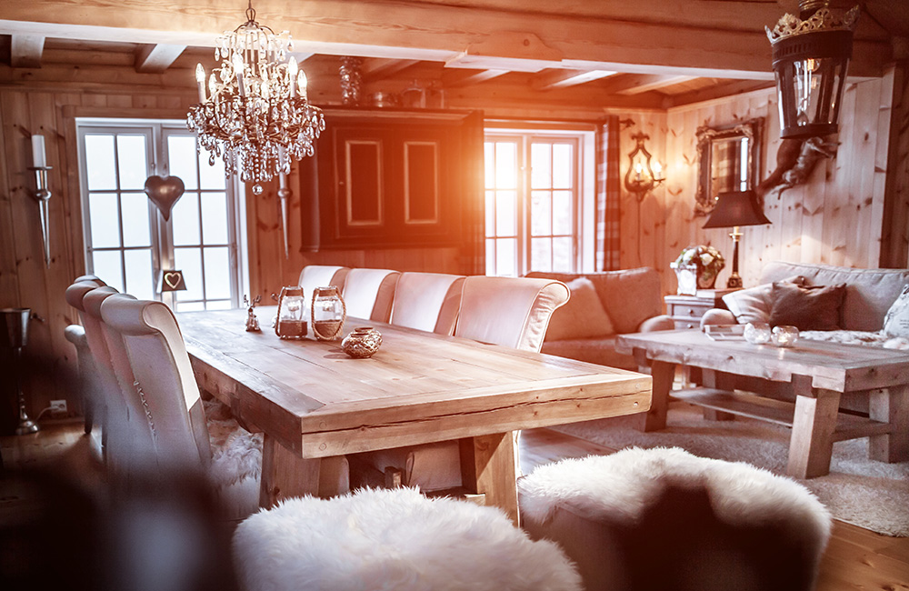 Veldig Rustikt spisebord, håndlaget kvalitetsmøbel ideelt for hytte MP-22